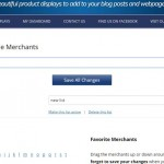 Create A List Of Favorite ShareASale Merchants