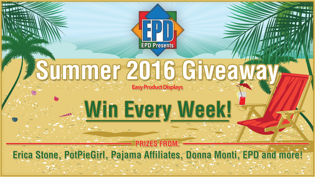 Summer Giveaway 2016 Week #2  June 19 - June 25 from Pajama Affiliates