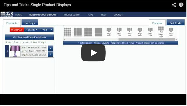 EPD Video Tutorial: Single Product Displays